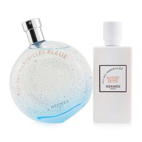 Picture of Hermes Eau Des Merveilles Bleue  for Women Eau de Parfum  100mL  Set